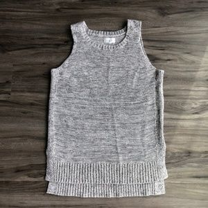 Lou & Grey Grey Marled Knit Thick Sweater Tank Top
